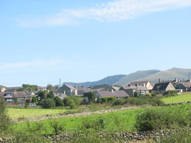 The view towards beautiful Penygroes.