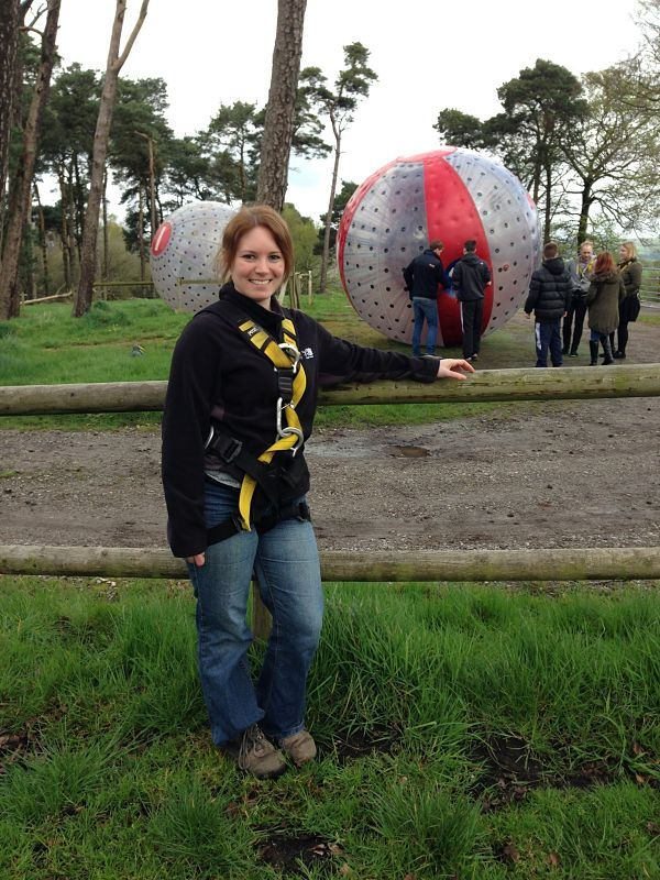 Zorbing! (FYI: was mega sick afterwards!)